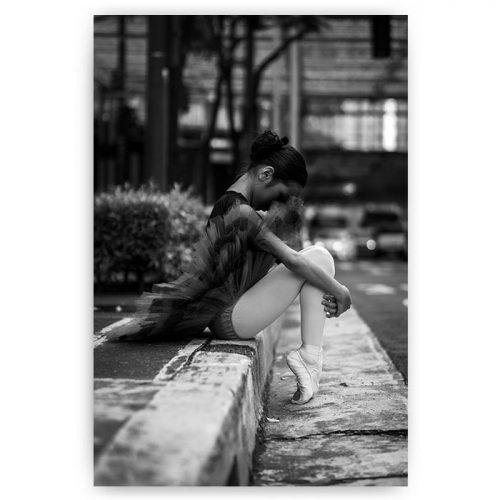 ballerina zwart wit