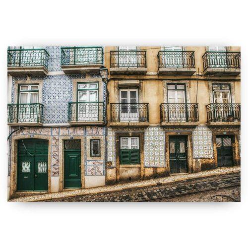straatbeeld lissabon stad