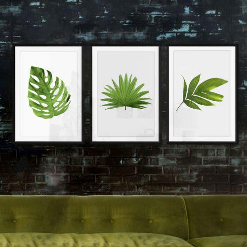 poster set bladeren blad