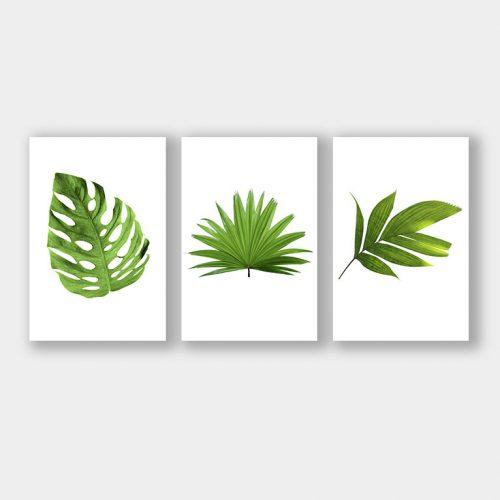 set groene bladeren