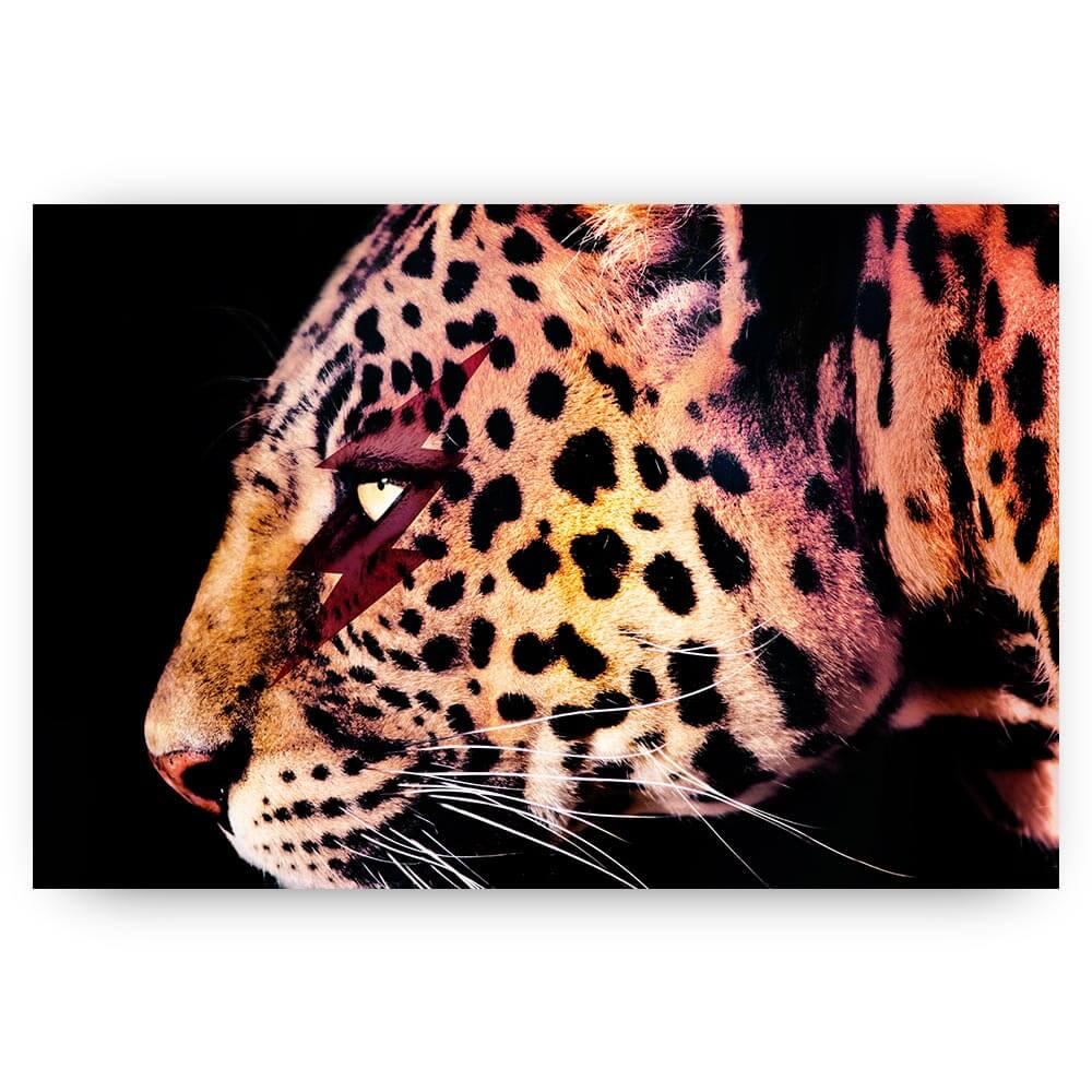 schilderij luipaard bliksemschicht