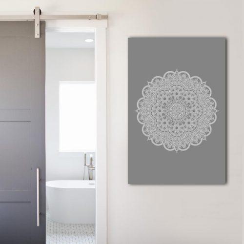 poster mandala op grijs