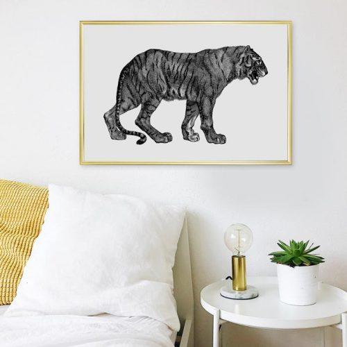 tijger illustratie schilderij