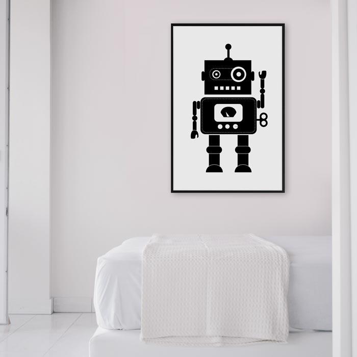 poster print robot