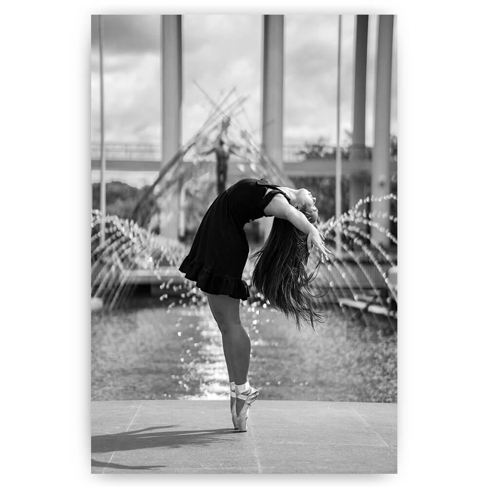 ballet danseres zwart wit