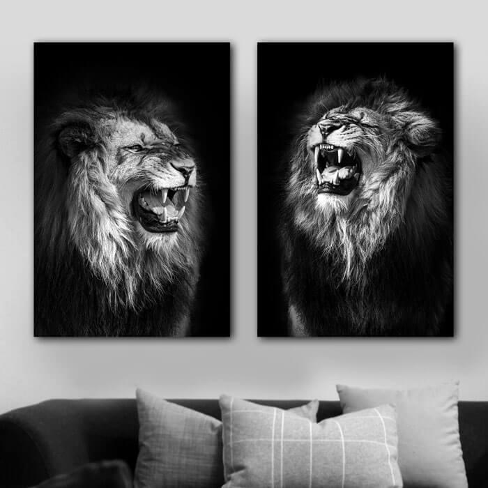 brullende leeuwen