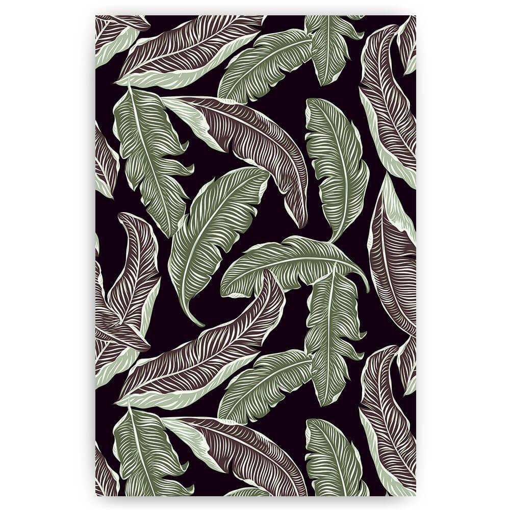 patroon van jungle bladeren