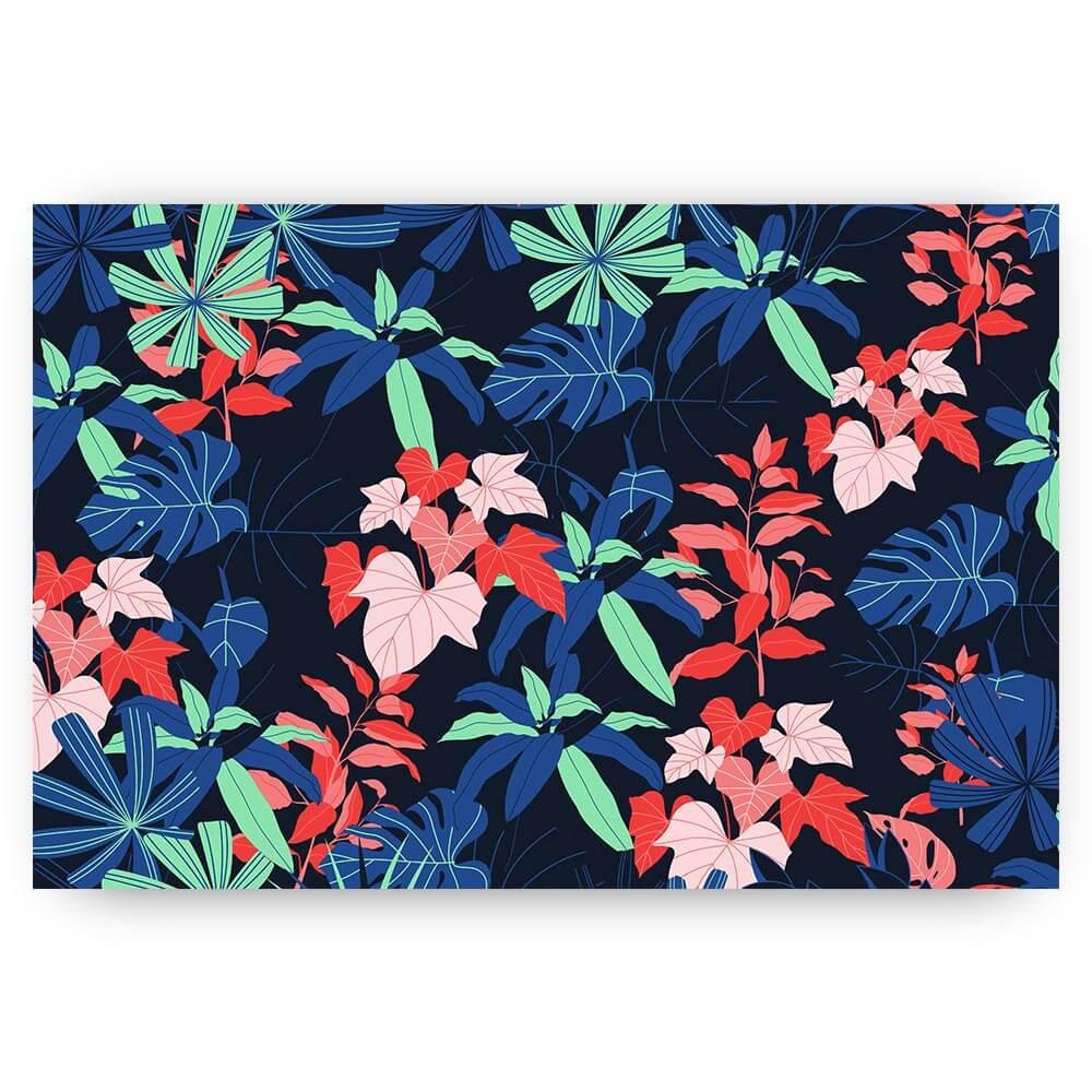 illustratief patroon met bladeren