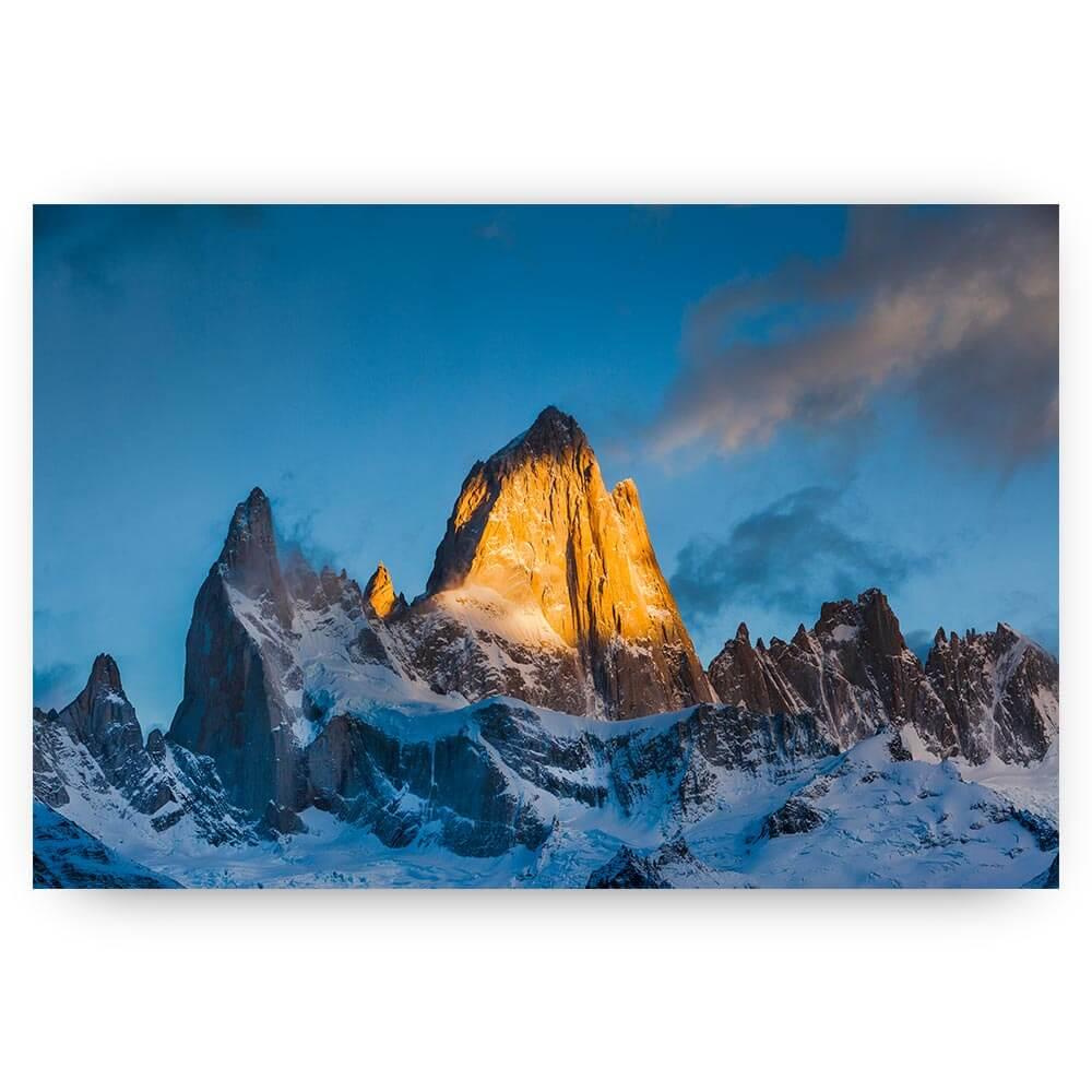berg bij zonsopkomst