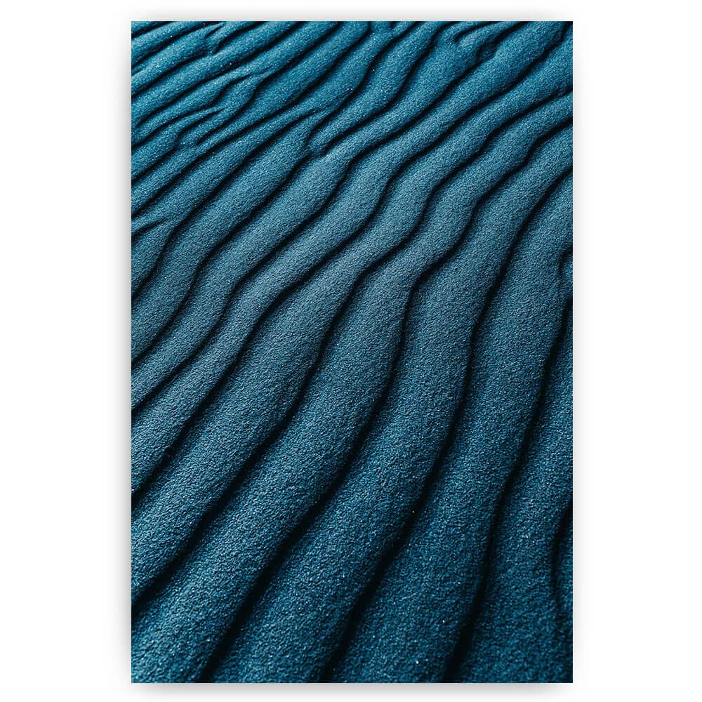 blauwe zandvlakte