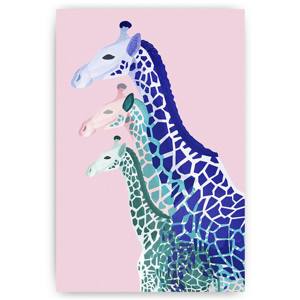 gekleurde giraffen