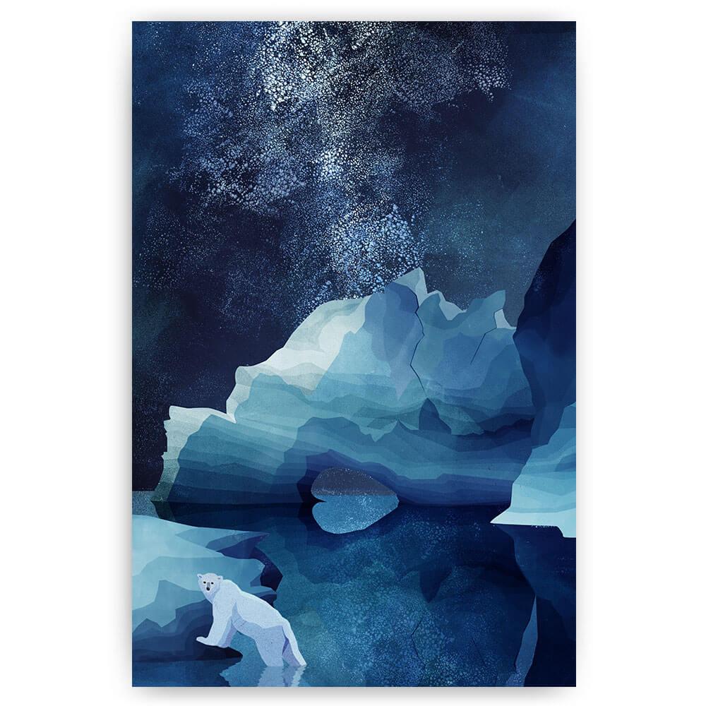 ijsbeer in de nacht