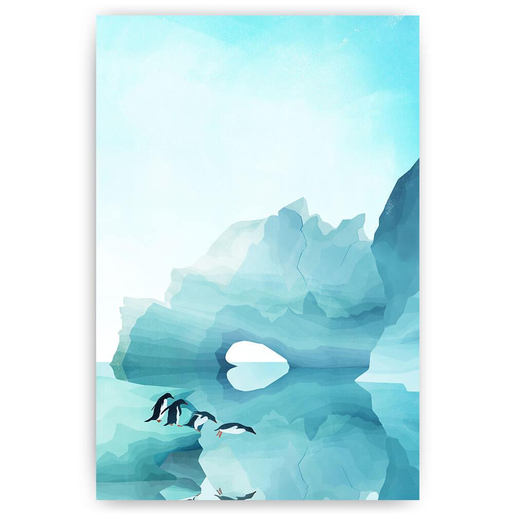 pinguins op ijsberg
