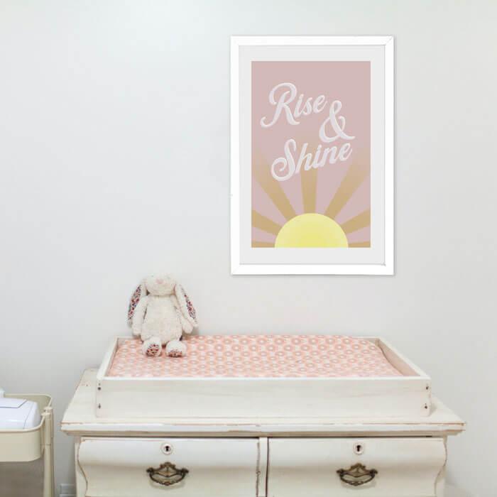 rise and shine babykamer