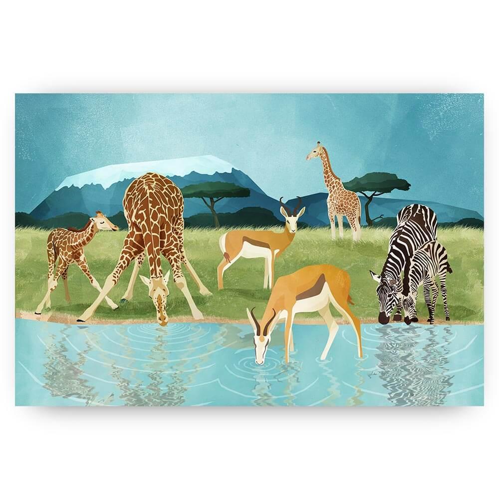savanne met dieren
