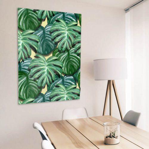 tropische bladeren wachtkamer