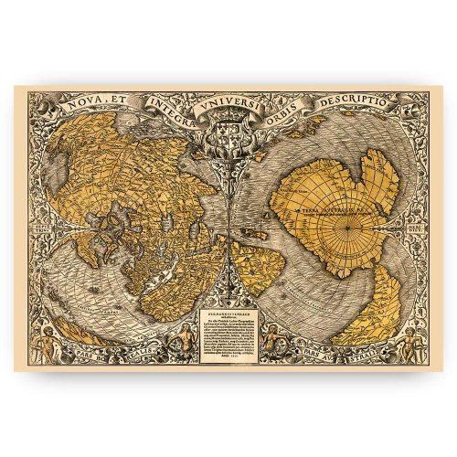vintage wereldkaart