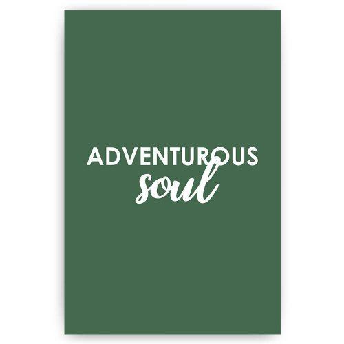 adventurous soul tekst poster