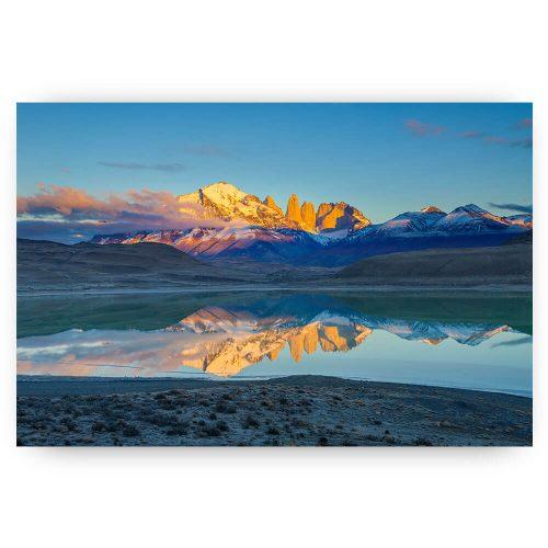 Bergketen zonsondergang