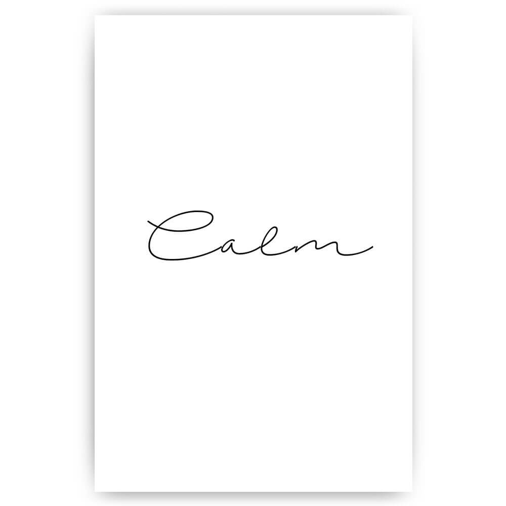 calm woord poster