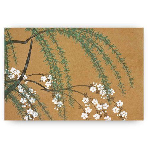 japanse print met bloesem