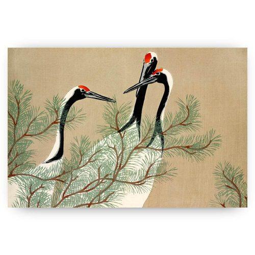 japanse print met vogels