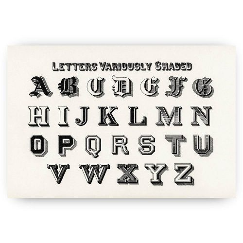 vintage alfabet letters