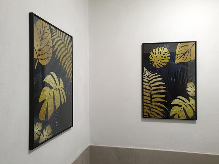 gouden bladeren schilderijen