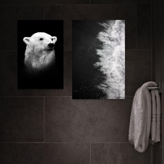 badkamer schilderijen ijsbeer