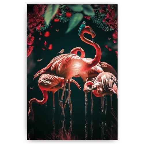 Kleurrijke flamingo's