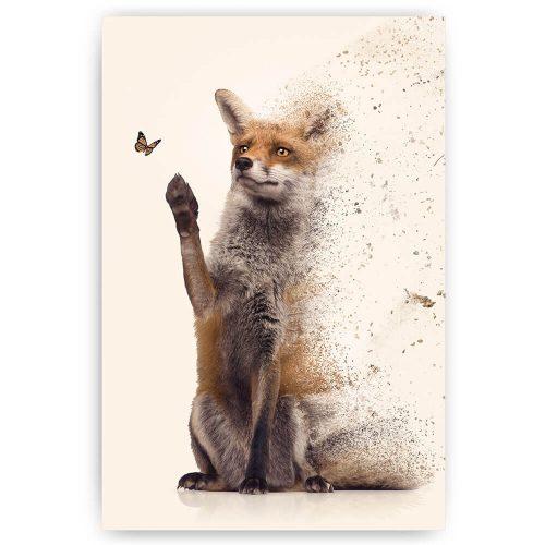 zittende vos schilderij