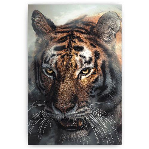 tijger in de mist