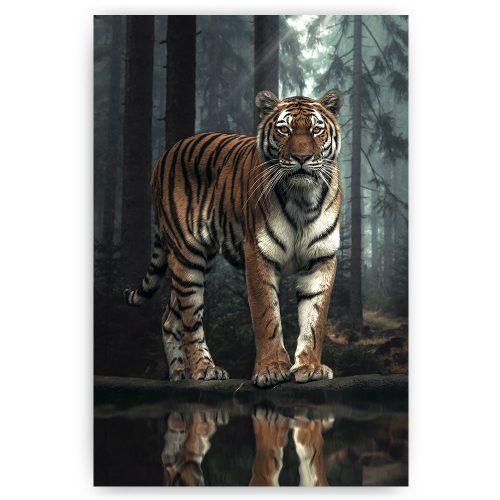 tijger reflectie in de bossen