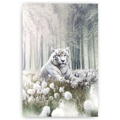 witte leeuw poster schilderij