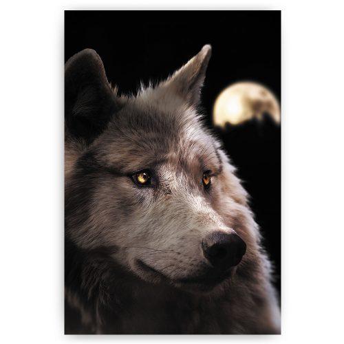 poster wolf met maan