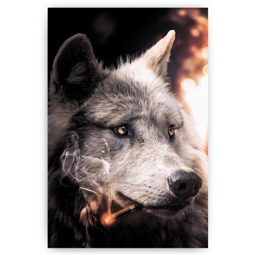 wolf met sigaar