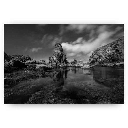 landschap bretagne zwart wit