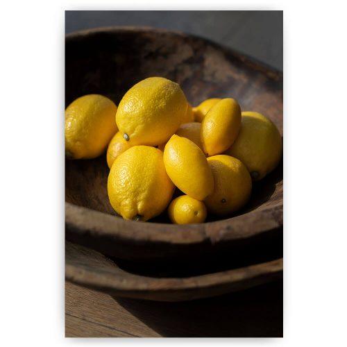 citroenen in een schaal