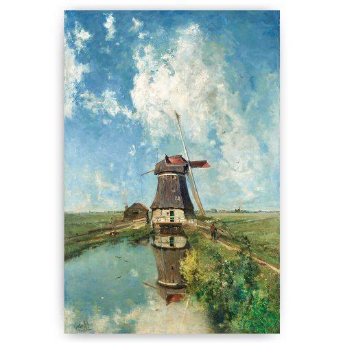 schilderij met molen