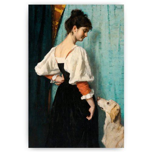 jonge vrouw met hond