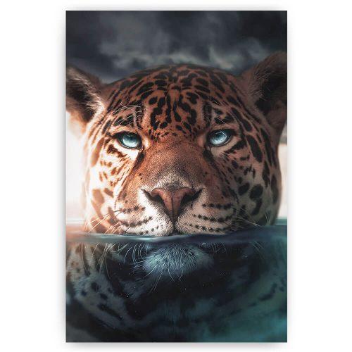 luipaard onder water