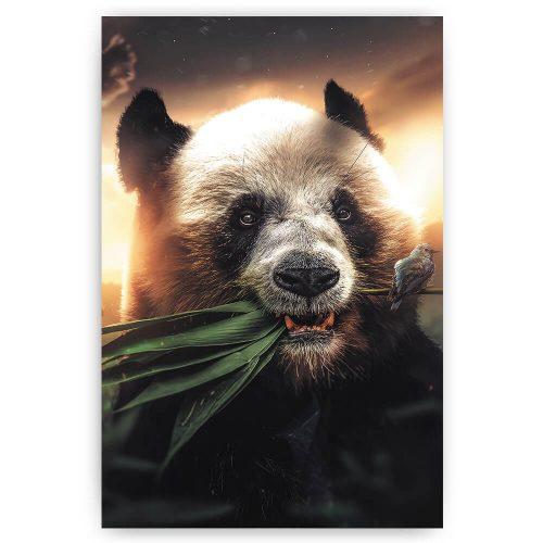 pandabeer met bamboe