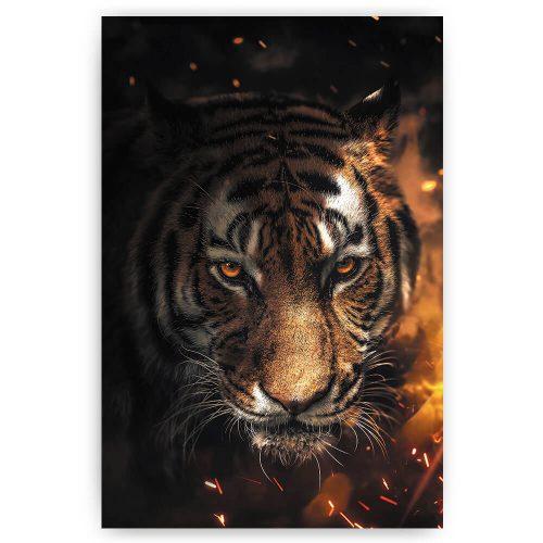 tijger met vuur