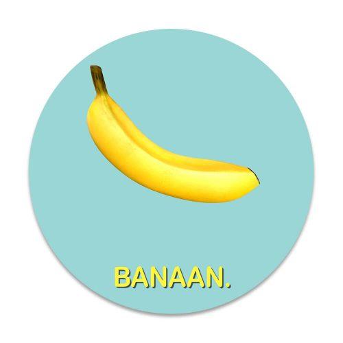 Wandcircel banaan