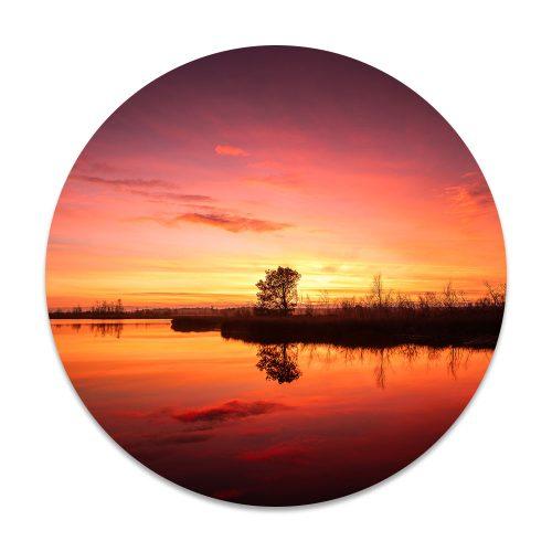 landschap zonsondergang