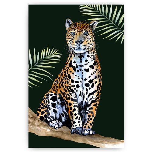 tropisch luipaard panter zittend