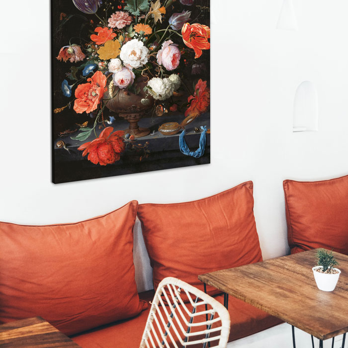 bloemen stilleven café