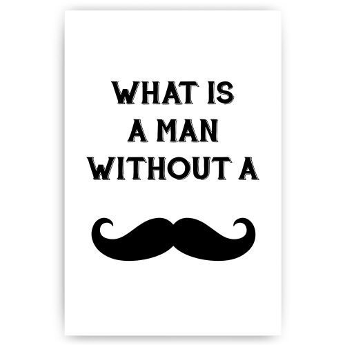 what is a man without a moustache