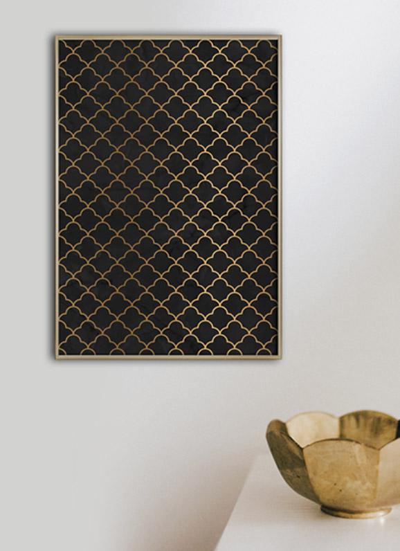 art deco oosters patroon