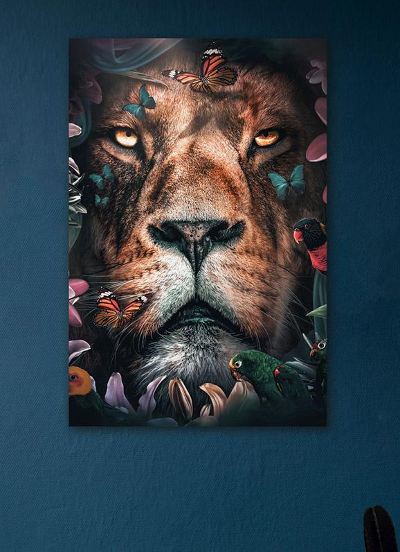 leeuw schilderij